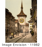#11982 Picture Of A Street Scene In Berne Switzerland