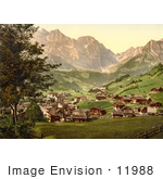 #11988 Picture Of Engelberg Valley And Juchlipass In Switzerland