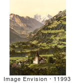 #11993 Picture Of Frutigen And Balmhorn In The Swiss Alps
