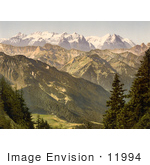 #11994 Picture Of A Landscape With The Bernese Alps