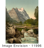 #11996 Picture Of Grindelwald And Eiger Mountain