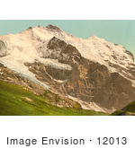 #12013 Picture Of Scheidegg Jungfrau And Silberhorn Mountains