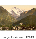 #12019 Picture Of Jungfrau Mountain Over Interlaken Switzerland