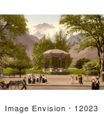 #12023 Picture Of A Music Pavillion In Interlaken Switzerland