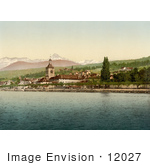 #12027 Picture Of Evian Les Bains On Geneva Lake Switzerland