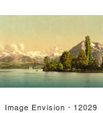 #12029 Picture Of Boats On Lake Thun Switzerland