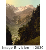 #12030 Picture Of The Valley Of Lintthal In Switzerland