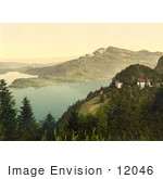 #12046 Picture Of Hotels At Lake Lucerne