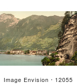 #12055 Stock Photo Of The Village Of Brunnen And The Gothard Tunnel Switzerland