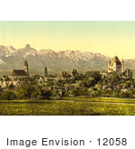 #12058 Picture Of The Village Of Thun Switzerland