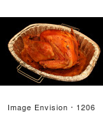 #1206 Thanksgiving Photography Of A Cooked Turkey In A Pan