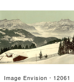 #12061 Picture Of The Rhone Valley In Winter Switzerland