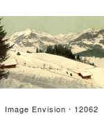 #12062 Picture Of Leysin Chaussy And The Ormont Valley In Winter