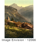 #12066 Picture Of The Village Of Gryon Switzerland