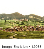 #12068 Picture Of The Village Of Leysin Switzerland