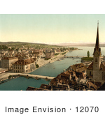 #12070 Picture Of A Zurich Cityscape Switzerland