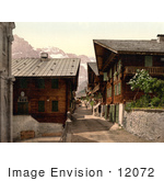 #12072 Picture Of Principal Street In Champery Switzerland