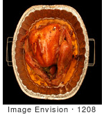 #1208 Photography Of The Top Of An Oven Roasted Thanksgiving Turkey