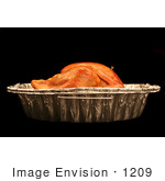 #1209 Photography Of A Cooked Thanksgiving Turkey In Pan From The Side
