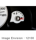 #12100 Picture Of A Gas Gauge Below The Empty Mark
