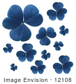 #12108 Picture Of Blue Clovers
