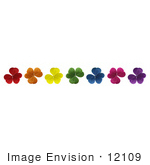 #12109 Picture of Rainbow Colored Clovers by Jamie Voetsch