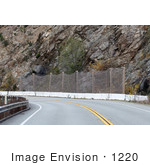 #1220 Photo Of A Highway Lanslide Area