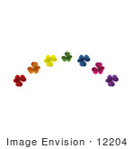 #12204 Picture of a Rainbow of Clovers by Jamie Voetsch