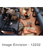 #12232 Picture Of Army Soldiers Sleeping On Teh Floor