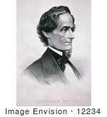 #12234 Picture Of Jefferson Davis Facing Right