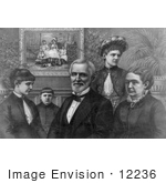 #12236 Picture Of Jefferson Davis With Family