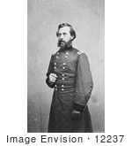 #12237 Picture of Jefferson Davis in Military Uniform by JVPD