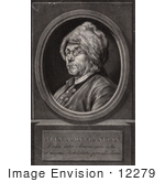 #12279 Picture Of Benjamin Franklin Facing Left