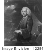 #12284 Picture Of Benjamin Franklin And Lighning
