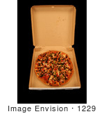 #1229 Photography of a Whole Pizza in the Box by Kenny Adams
