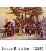 #12290 Picture Of Benjamin Franklin Arriving In Philadelphia