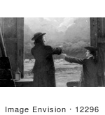 #12296 Picture Of Benjamin Franklin'S Kite Experiment