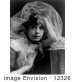 #12326 Picture Of Lillian Gish With Chiffon