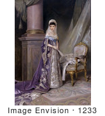 #1233 Stock Photo Of A Painting Of Maria Feodorovna Of Glucksburg 1912