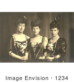 #1234 Photo of The Daughters of The King Christian IX of Denmark, Princesses Victoria, Alexandra, and Dagmar by JVPD