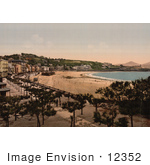 #12352 Picture Of The Waterfront Village Of Donostia-San Sebastian Spain