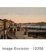 #12356 Picture Of A Harbor Donostia-San Sebastian On The Bay Of Biscay Spain