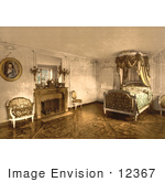 #12367 Picture Of The Bedroom Of Marie Antoinette At Petit Trianon