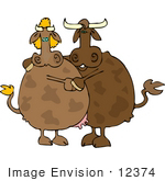 #12374 Cow Couple Clipart by DJArt