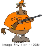 #12381 Cow Hunter Clipart