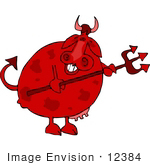 #12384 Devilish Cow Clipart