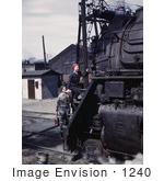 #1240 Photo of Riveter Women Wiping Trains in the Chicago and North Western Railroad, 1943 by JVPD