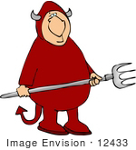 #12433 Dumb Devil Clipart