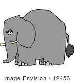 #12453 Side View Of An Elephant Clipart