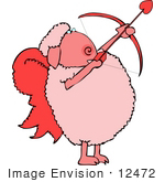 #12472 Cupid Valentine'S Day Sheep Clipart
